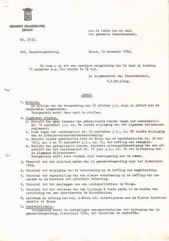 raadsverslagen Idaarderadeel 1935-1983 1964-11-17