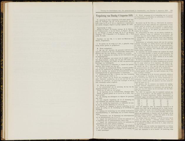 Raadsverslagen van de gemeente Leeuwarden, 1865-2007 (Notulen) 1895-08-06