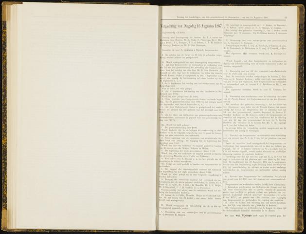 Raadsverslagen van de gemeente Leeuwarden, 1865-2007 (Notulen) 1887-08-16