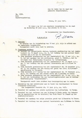 raadsverslagen Idaarderadeel 1935-1983 1961-06-29