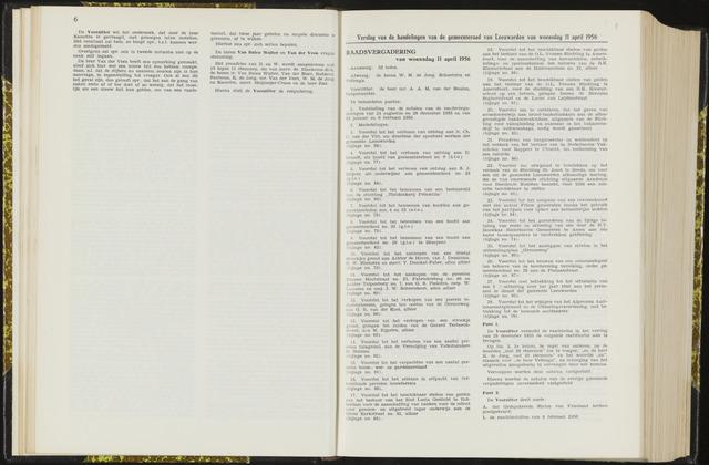 Raadsverslagen van de gemeente Leeuwarden, 1865-2007 (Notulen) 1956-04-11
