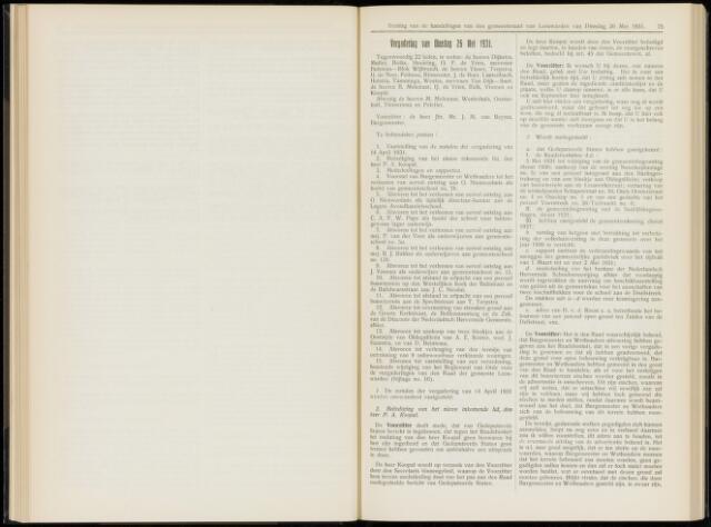 Raadsverslagen van de gemeente Leeuwarden, 1865-2007 (Notulen) 1931-05-26