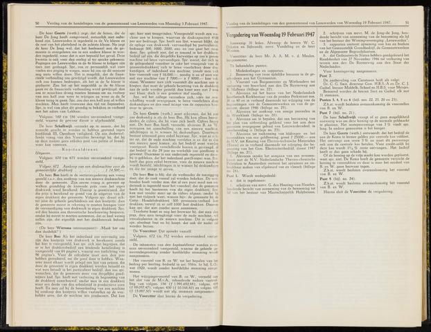 Raadsverslagen van de gemeente Leeuwarden, 1865-2007 (Notulen) 1947-02-19