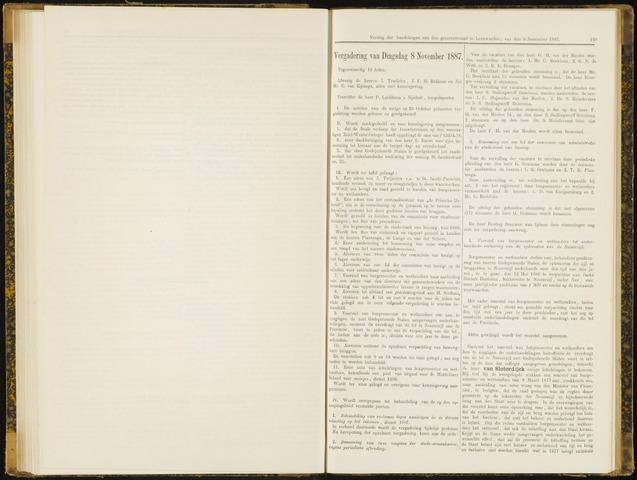 Raadsverslagen van de gemeente Leeuwarden, 1865-2007 (Notulen) 1887-11-08