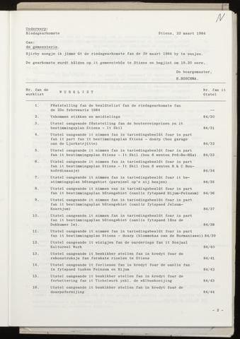 Notulen van de gemeenteraad van Leeuwarderadeel 1984-03-29