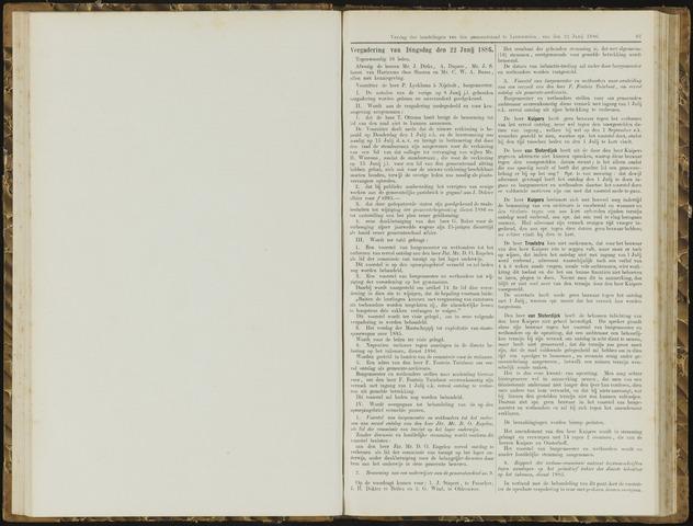 Raadsverslagen van de gemeente Leeuwarden, 1865-2007 (Notulen) 1886-06-22