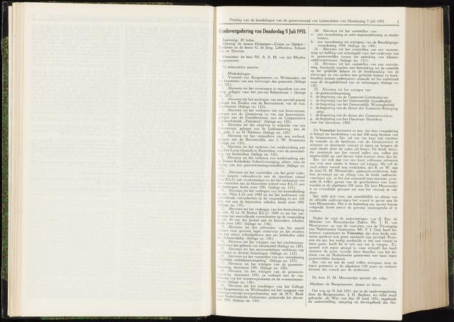 Raadsverslagen van de gemeente Leeuwarden, 1865-2007 (Notulen) 1951-07-05