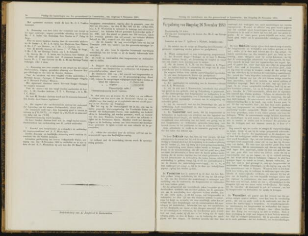 Raadsverslagen van de gemeente Leeuwarden, 1865-2007 (Notulen) 1889-11-26