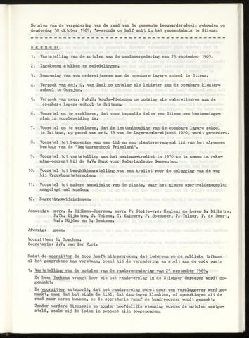 Notulen van de gemeenteraad van Leeuwarderadeel 1969-10-30