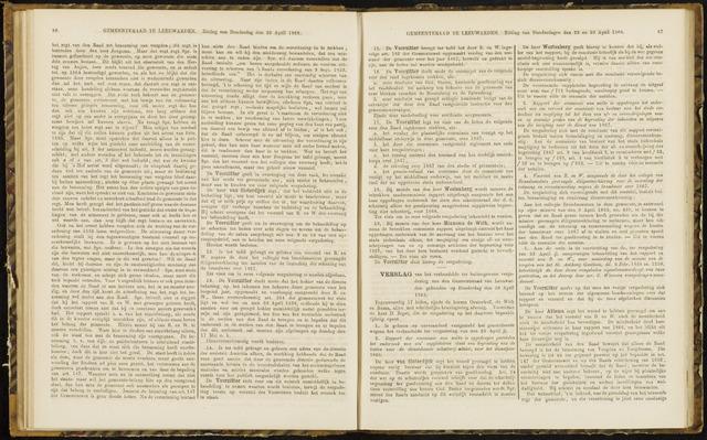 Raadsverslagen van de gemeente Leeuwarden, 1865-2007 (Notulen) 1868-04-30