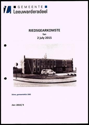 Notulen van de gemeenteraad van Leeuwarderadeel 2015-07-02