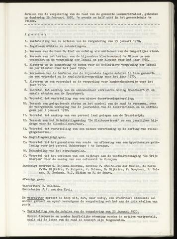 Notulen van de gemeenteraad van Leeuwarderadeel 1970-02-26