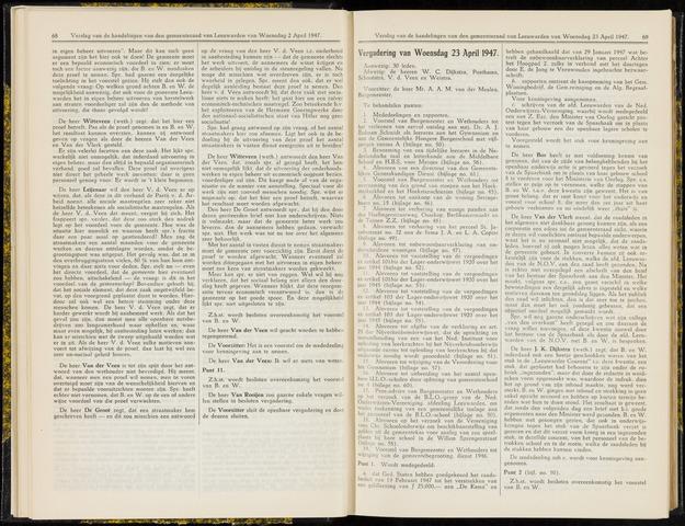 Raadsverslagen van de gemeente Leeuwarden, 1865-2007 (Notulen) 1947-04-23