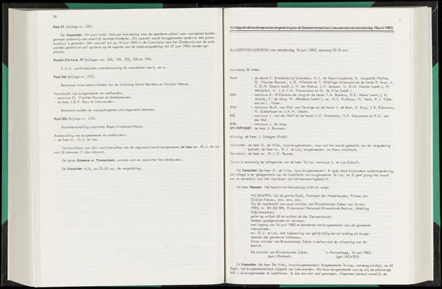 Raadsverslagen van de gemeente Leeuwarden, 1865-2007 (Notulen) 1983-06-16