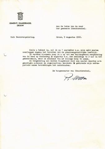 raadsverslagen Idaarderadeel 1935-1983 1962-08-30