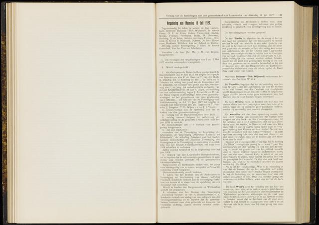 Raadsverslagen van de gemeente Leeuwarden, 1865-2007 (Notulen) 1927-07-18