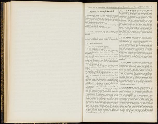 Raadsverslagen van de gemeente Leeuwarden, 1865-2007 (Notulen) 1910-03-22