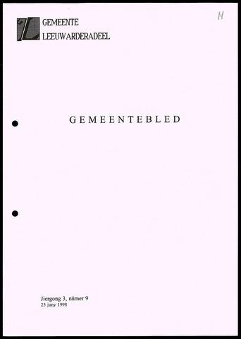 Notulen van de gemeenteraad van Leeuwarderadeel 1998-06-25