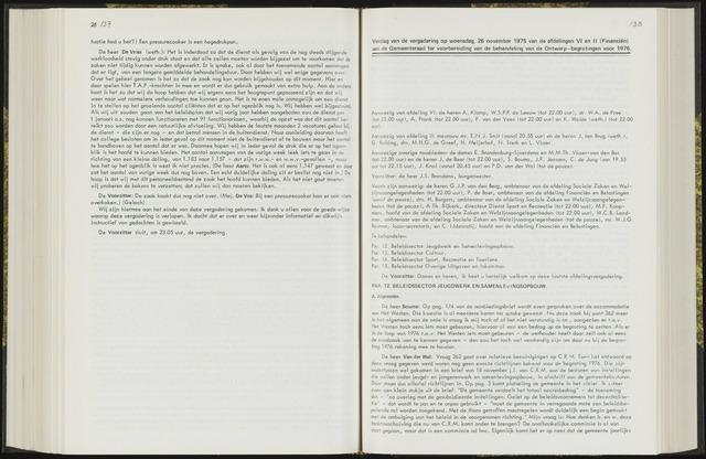 Raadsverslagen van de gemeente Leeuwarden, 1865-2007 (Notulen) 1975-11-26