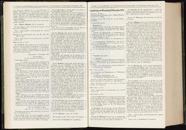 Raadsverslagen van de gemeente Leeuwarden, 1865-2007 (Notulen) 1951-12-19