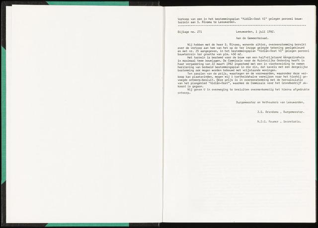 Raadsverslagen van de gemeente Leeuwarden, 1865-2007 (Bijlagen) 1982-01-01