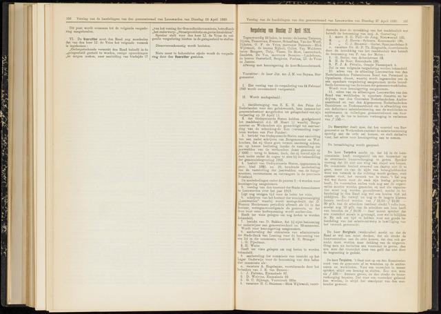 Raadsverslagen van de gemeente Leeuwarden, 1865-2007 (Notulen) 1920-04-27