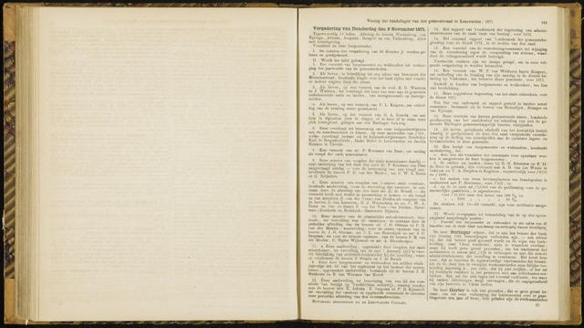 Raadsverslagen van de gemeente Leeuwarden, 1865-2007 (Notulen) 1871-11-09