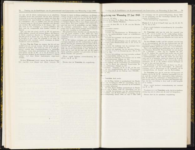 Raadsverslagen van de gemeente Leeuwarden, 1865-2007 (Notulen) 1949-06-22