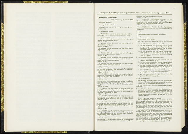 Raadsverslagen van de gemeente Leeuwarden, 1865-2007 (Notulen) 1958-03-05