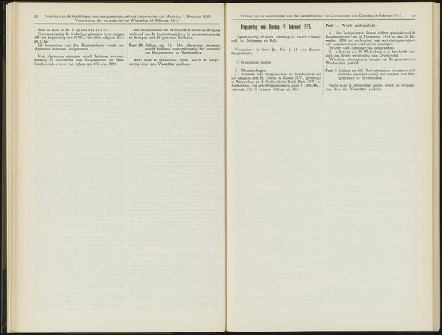 Raadsverslagen van de gemeente Leeuwarden, 1865-2007 (Notulen) 1935-02-19