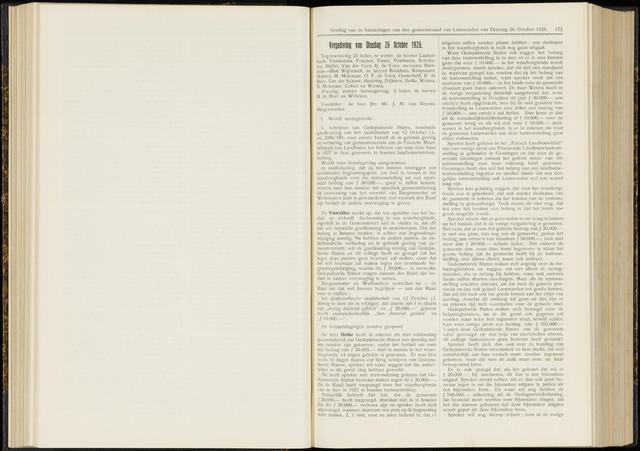 Raadsverslagen van de gemeente Leeuwarden, 1865-2007 (Notulen) 1926-10-26