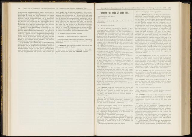 Raadsverslagen van de gemeente Leeuwarden, 1865-2007 (Notulen) 1925-10-27