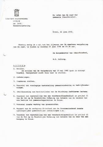 raadsverslagen Idaarderadeel 1935-1983 1981-06-23