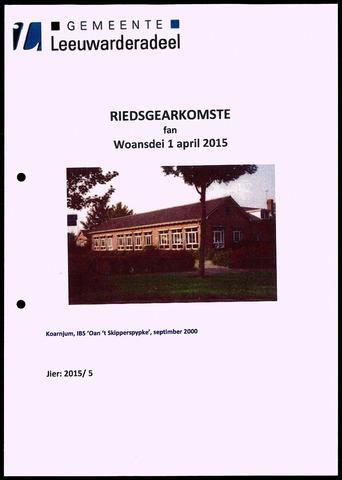 Notulen van de gemeenteraad van Leeuwarderadeel 2015-04-01