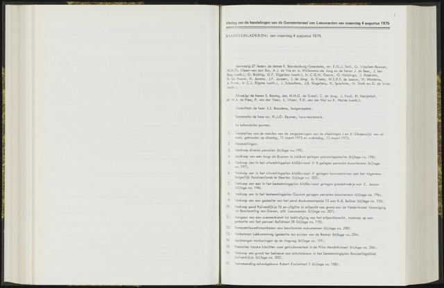 Raadsverslagen van de gemeente Leeuwarden, 1865-2007 (Notulen) 1975-08-04