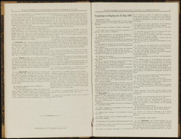 Raadsverslagen van de gemeente Leeuwarden, 1865-2007 (Notulen) 1889-06-25
