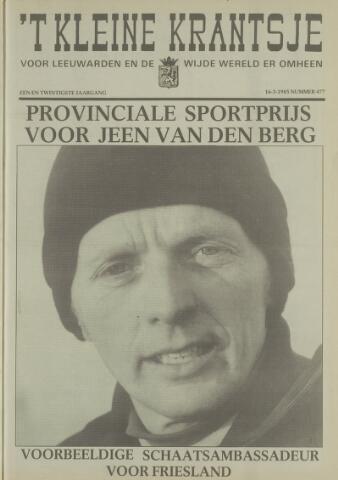 't Kleine Krantsje, 1964-1997 1985-03-16
