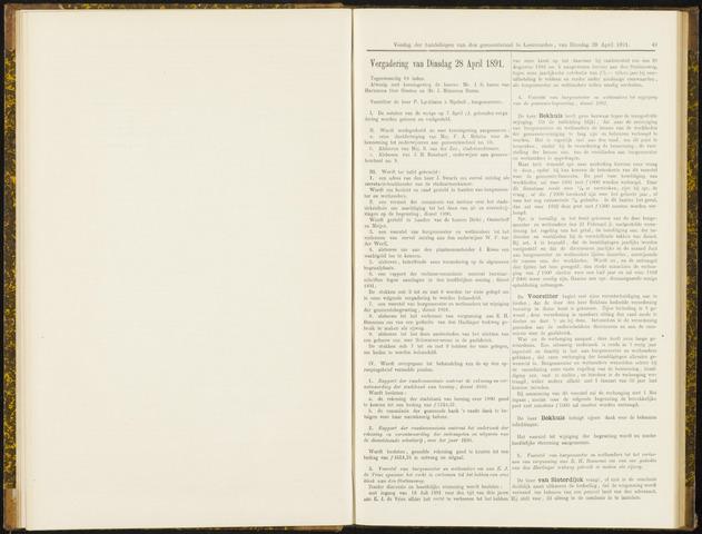Raadsverslagen van de gemeente Leeuwarden, 1865-2007 (Notulen) 1891-04-28