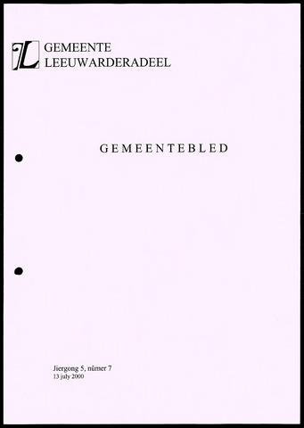 Notulen van de gemeenteraad van Leeuwarderadeel 2000-07-13