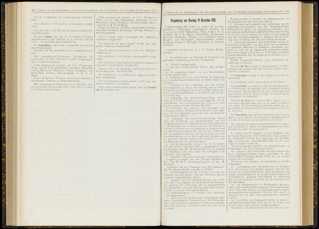 Raadsverslagen van de gemeente Leeuwarden, 1865-2007 (Notulen) 1915-12-14