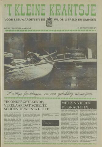 't Kleine Krantsje, 1964-1997 1984-12-22