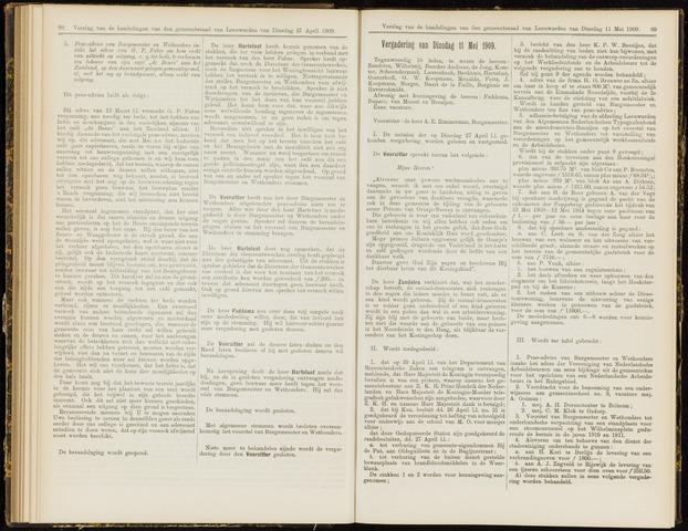 Raadsverslagen van de gemeente Leeuwarden, 1865-2007 (Notulen) 1909-05-11