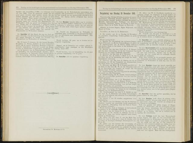 Raadsverslagen van de gemeente Leeuwarden, 1865-2007 (Notulen) 1905-11-28