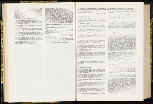 Raadsverslagen van de gemeente Leeuwarden, 1865-2007 (Notulen) 1960-04-27