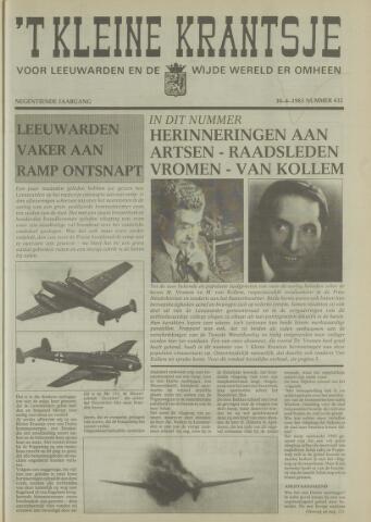 't Kleine Krantsje, 1964-1997 1983-04-30