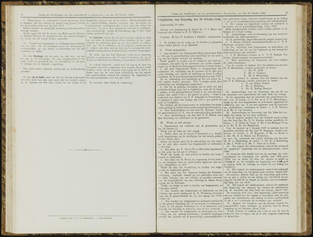 Raadsverslagen van de gemeente Leeuwarden, 1865-2007 (Notulen) 1886-10-26