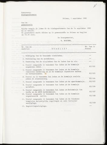 Notulen van de gemeenteraad van Leeuwarderadeel 1982-09-07