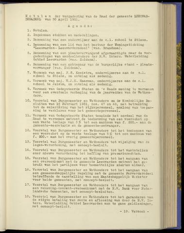 Notulen van de gemeenteraad van Leeuwarderadeel 1951-04-30