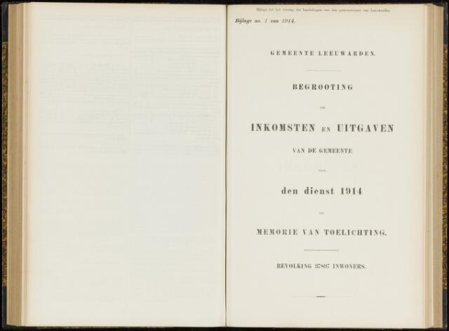 Raadsverslagen van de gemeente Leeuwarden, 1865-2007 (Bijlagen) 1914-01-01