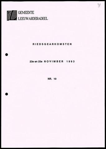 Notulen van de gemeenteraad van Leeuwarderadeel 1993-11-23